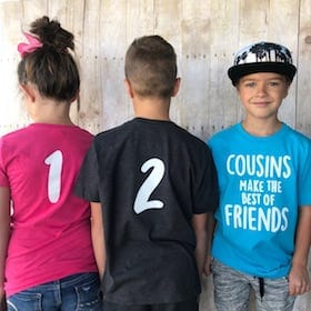 Custom Numbered Cousin Shirts