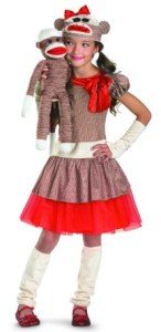 Disguise Limited Girls' Sock Monkey Costume