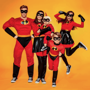 Family Matching Incredibles Halloween Costumes