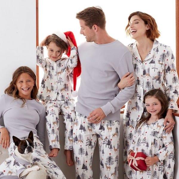 Family Matching Woodland Deer Christmas Pajamas