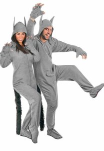 Fleece Adult Grey Wolf Halloween Costume | where the wild things are adult costume | family group costumes