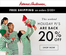 Hanna Andersson Holiday PJs are back 20 OFF