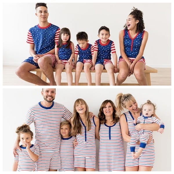 Hanna Andersson Red, White and Blue Family PJs