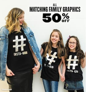 Matching Family Graphics 50 off