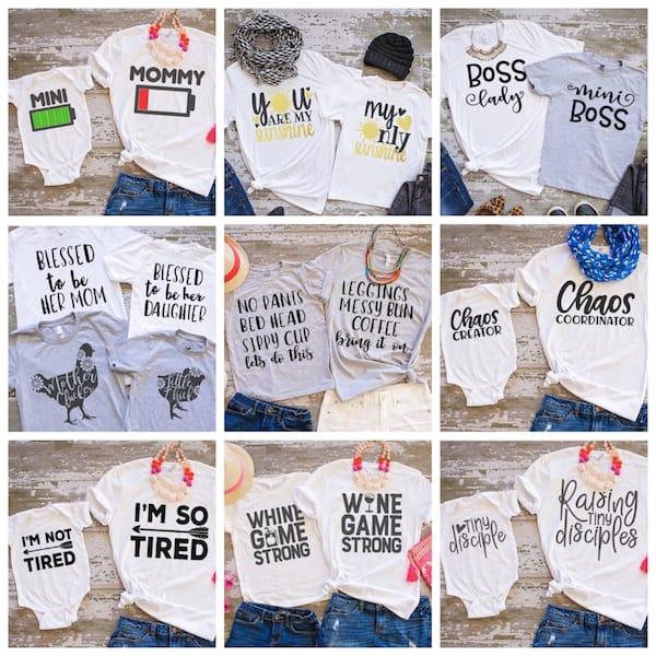 Mom and Tot Tees on Sale
