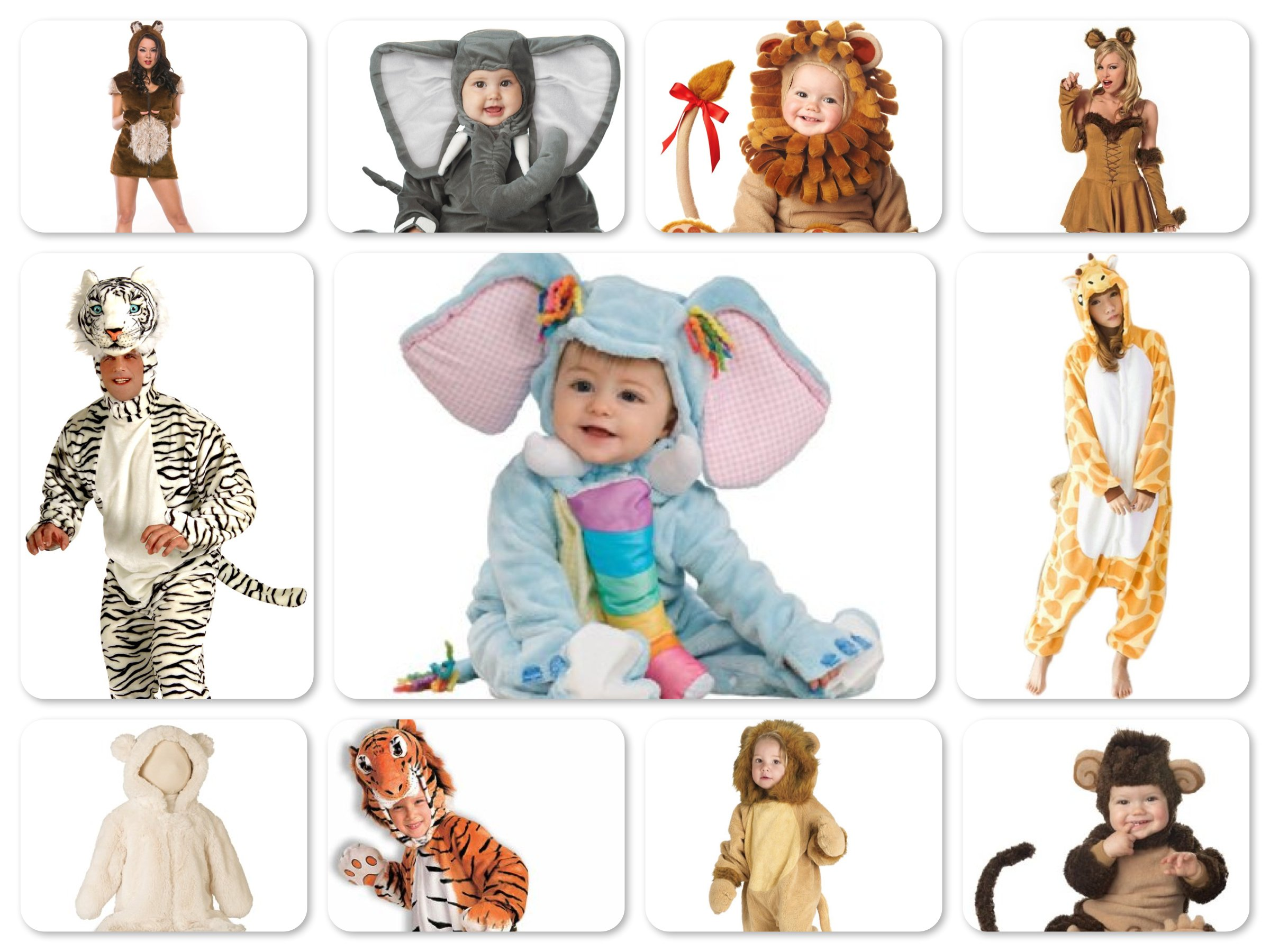 Mommy, Daddy & Me Matching Lions & Tigers & Bears Costumes