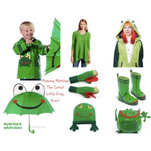Rain Gear Doubles as Mommy and Me Frog Halloween CostumesCostume
