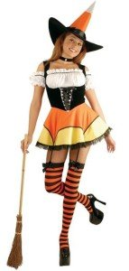 Sassy Candy Corn Witch Costume
