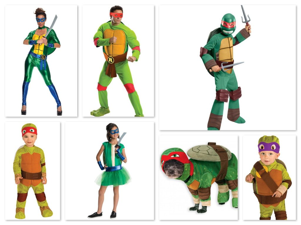 Teenage Mutant Ninja Turtles Matching Family Halloween Costumes