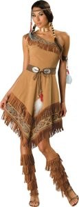Women's Indian Maiden Costume | Tiger Lily Peter Pan family group costumes