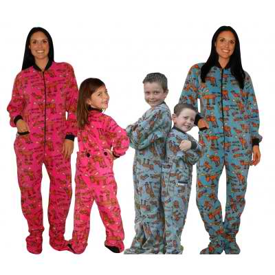 Don't Moose Family Matching Footed Pajama