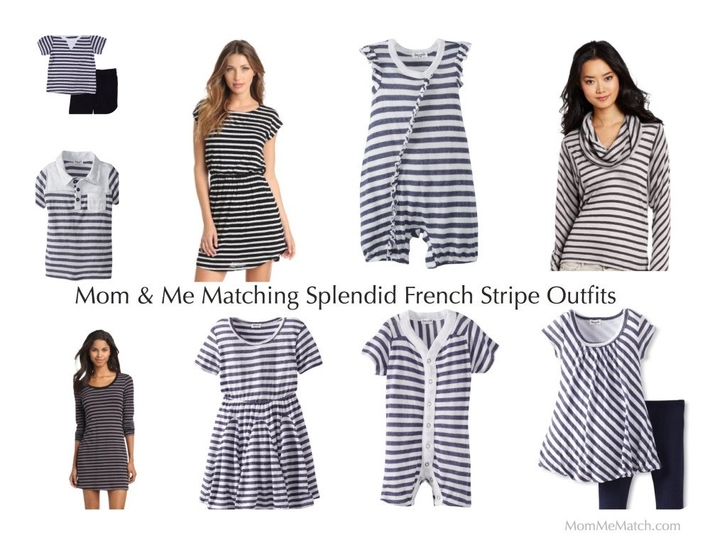 Mom& Me Matching Splendid French Stripe Outfits