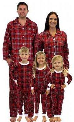 Red Plaid Matching Family Christmas Pajamas