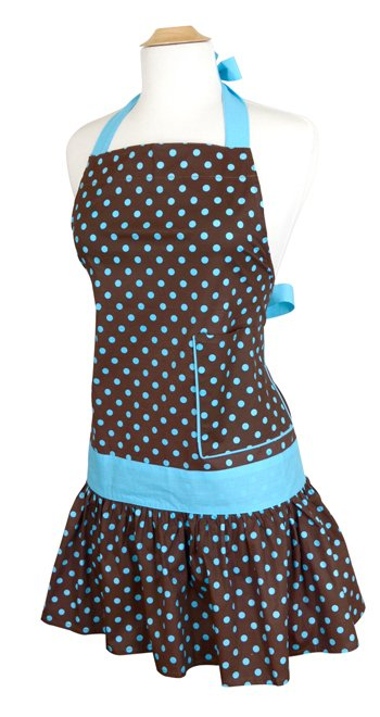 Womens Blue-Chocolate Apron