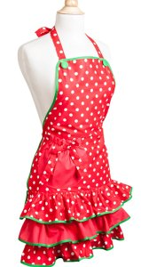 Deck the Halls Christmas Womans Apron, Christmas Aprons