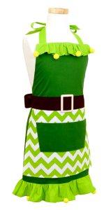 Girls Holiday ELF Apron, Christmas Aprons