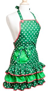 Mistletoe Christmas Womans Apron, Christmas Aprons