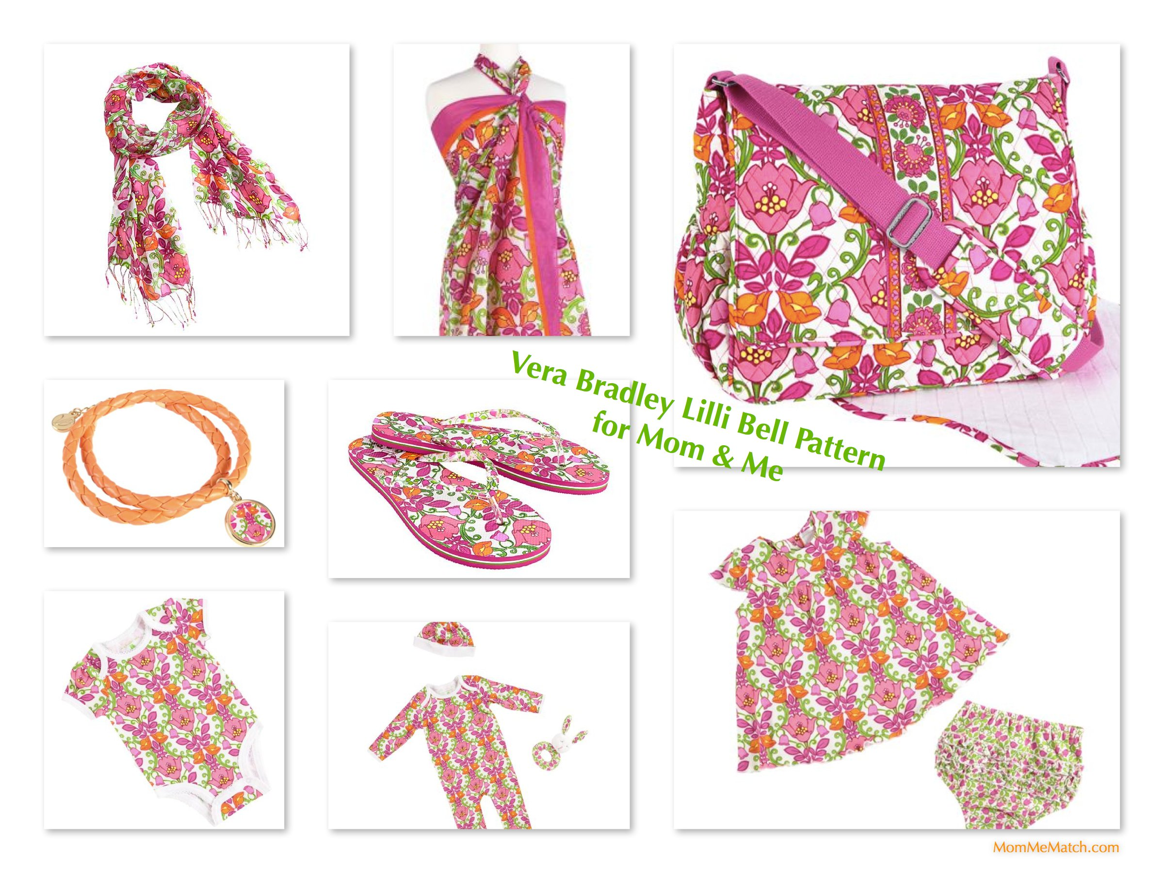 Mom & Me Matching Vera Bradley Lilli Bell Pattern Baby Bags & Outfits