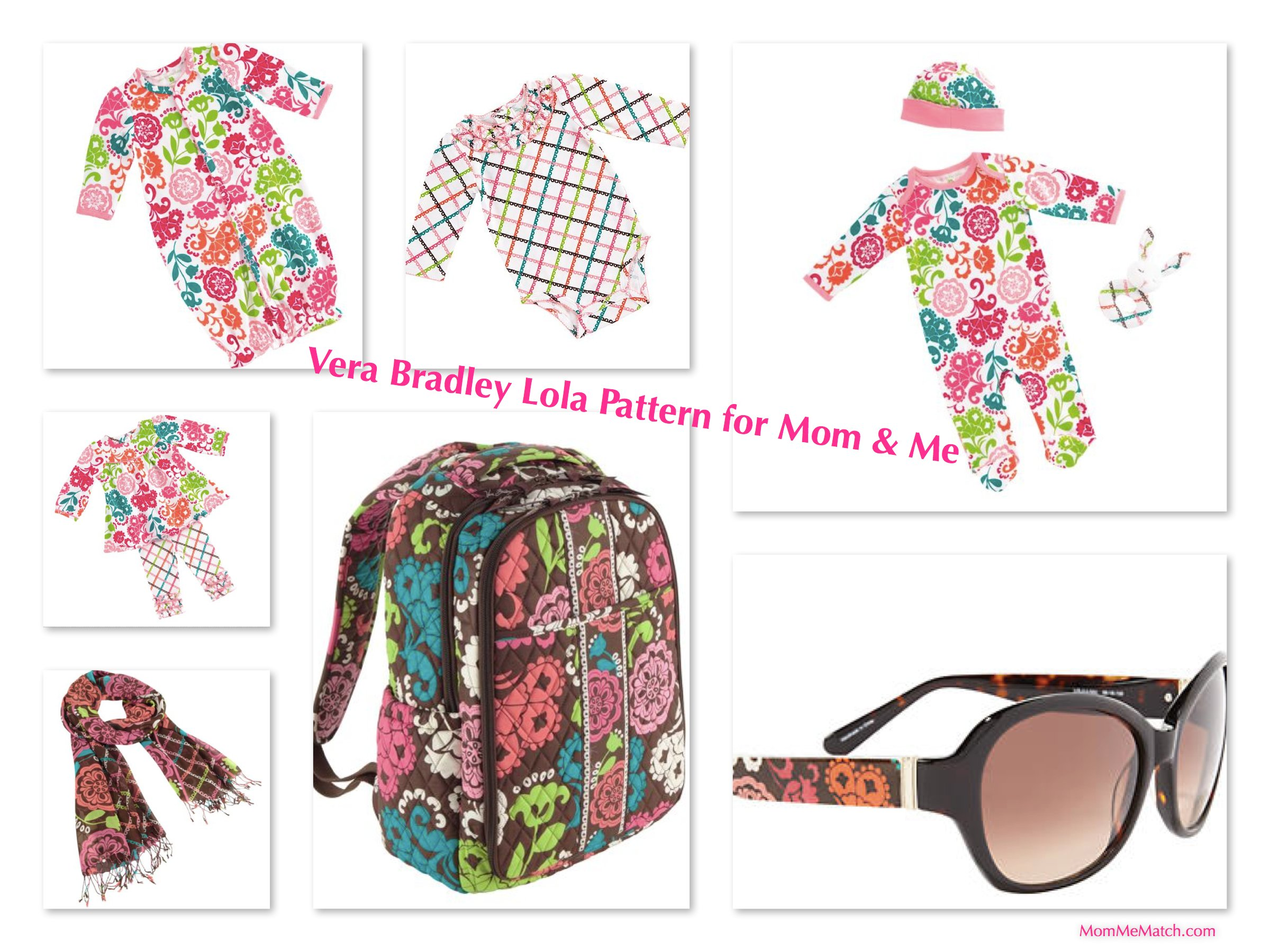 Mom & Me Matching Vera Bradley Lola Pattern Baby Bags & Outfits