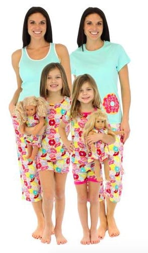 Mommy and Me Donut Matching Pajamas, Family Matching Spring & Summer Pajama Collection