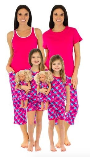 Mommy and Me Mermaid Matching Pajamas, Family Matching Spring & Summer Pajama Collection