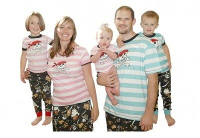 Lazy One Pink and Blue Pirates Family Matching Pajamas, Matching Pirate Pajamas