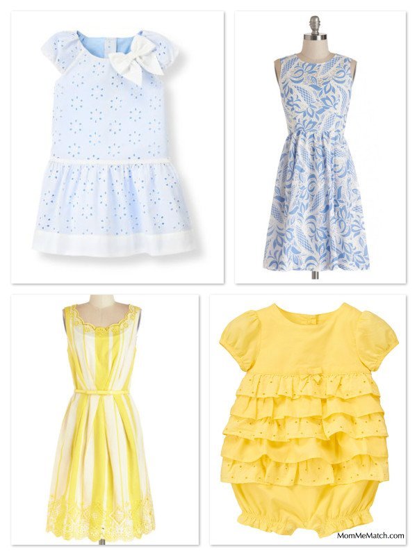 Mother Daughter Matching Eyelet Dresses