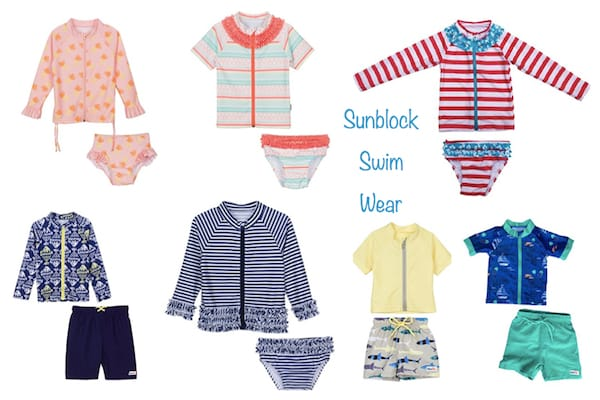Kids Zip-up Sunblock Swim Wear