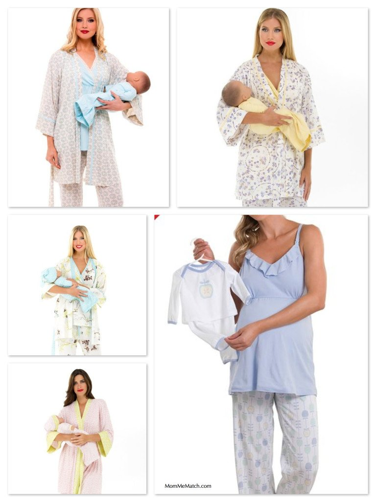 Mommy & Newborn Matching Nursing Pajamas & Layette