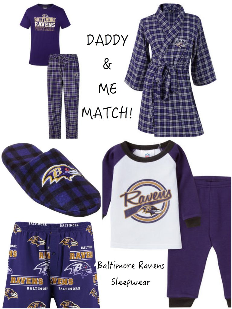 Daddy & Me Matching Baltimore Ravens Sports Fan Pajamas