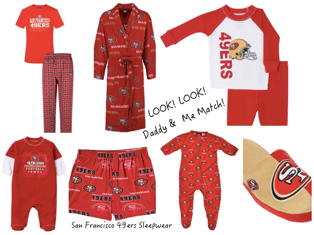 Daddy & Me Matching San Francisco 49ers Sports Fan Pajamas