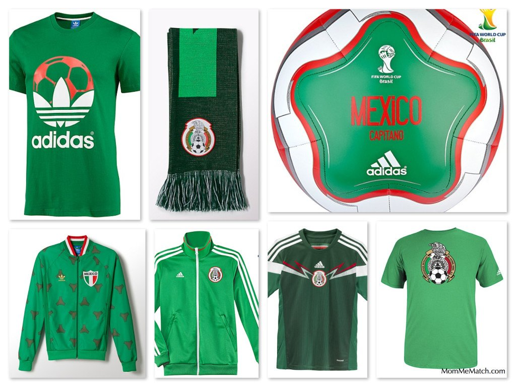 FIFA-Mexico National Team Matching Soccer Gear for the whole Family