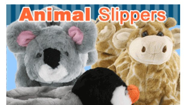 Matching Family Mommy Daddy & Kids Animal Slippers