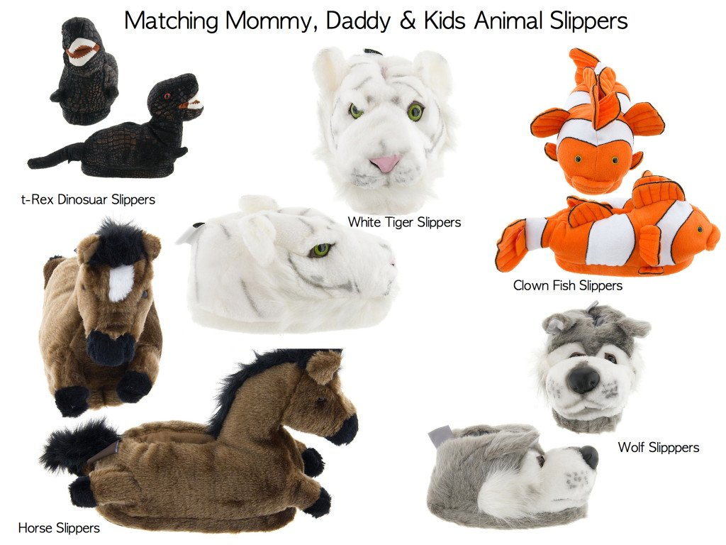 Matching Family Animal Slippers for Mommy, Daddy & the Kids