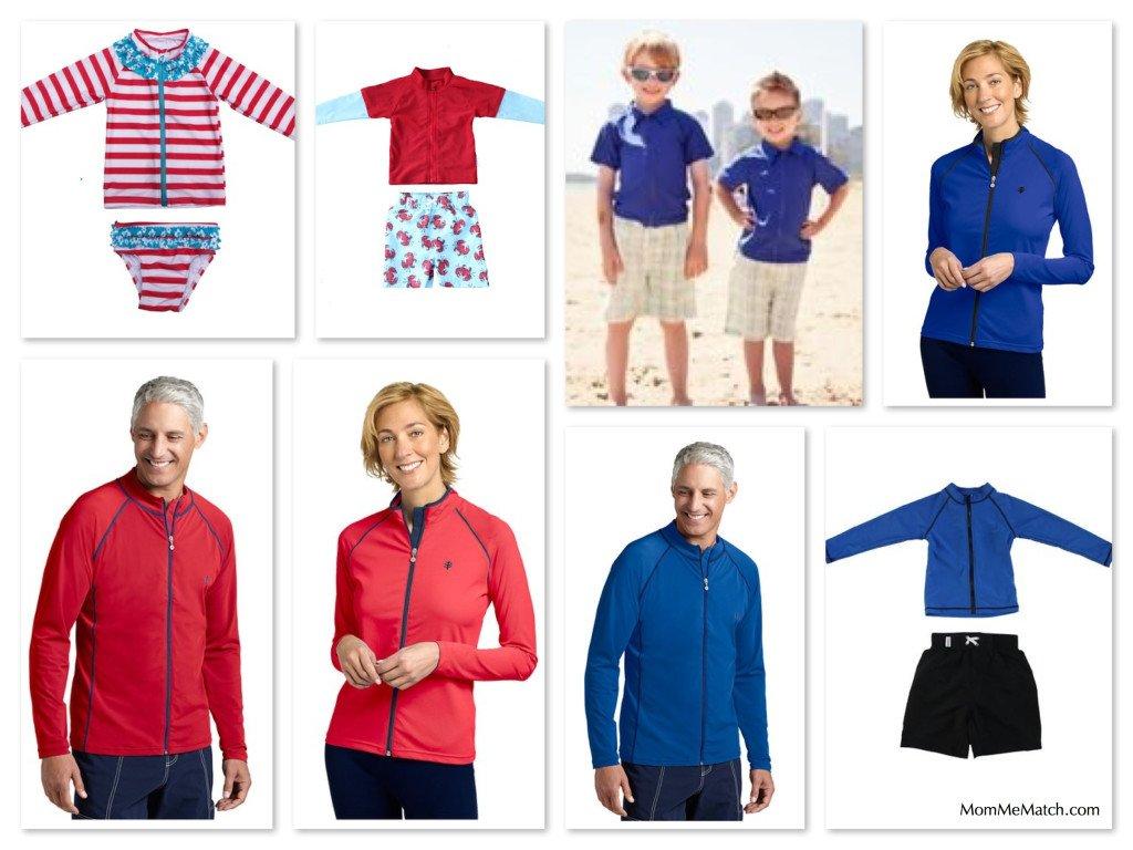 Matching Family Sun Protective Swimwear, SwimZip Rash Guards as seen on Shark Tank