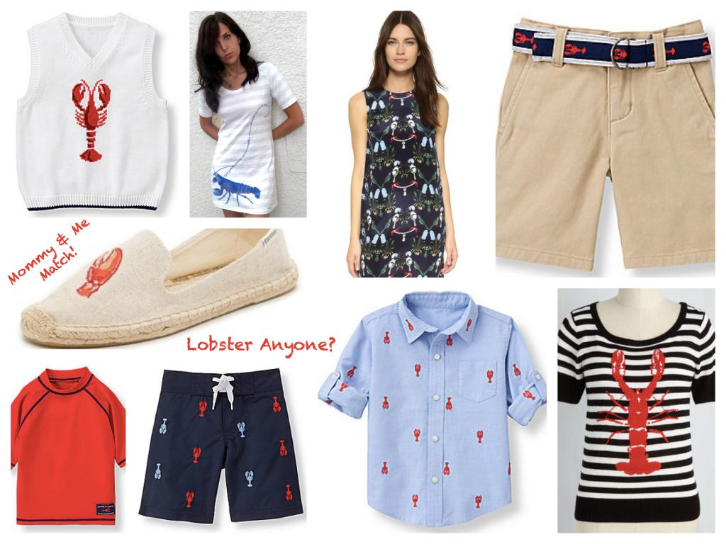 Mother Son Matching Lobster Bake Summer Party Outfits