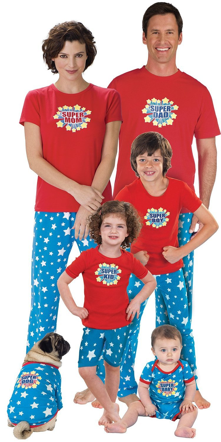 Superhero Matching Pajamas for the Whole Family