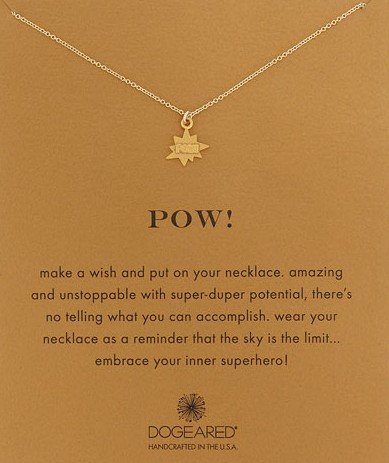 Dogeared Pow 14K Pendant Necklace