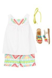 Back to School Girls Clothes Glittering Geo
