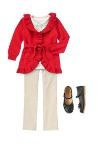 Back to School Girls Clothes Red of the Class Outfit