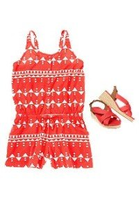 Back to School Girls Clothes Romp Around Red