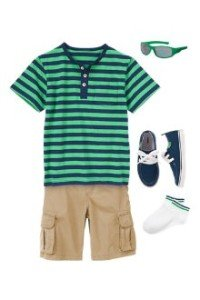 Back to School Boys Clothes Stripe Cove