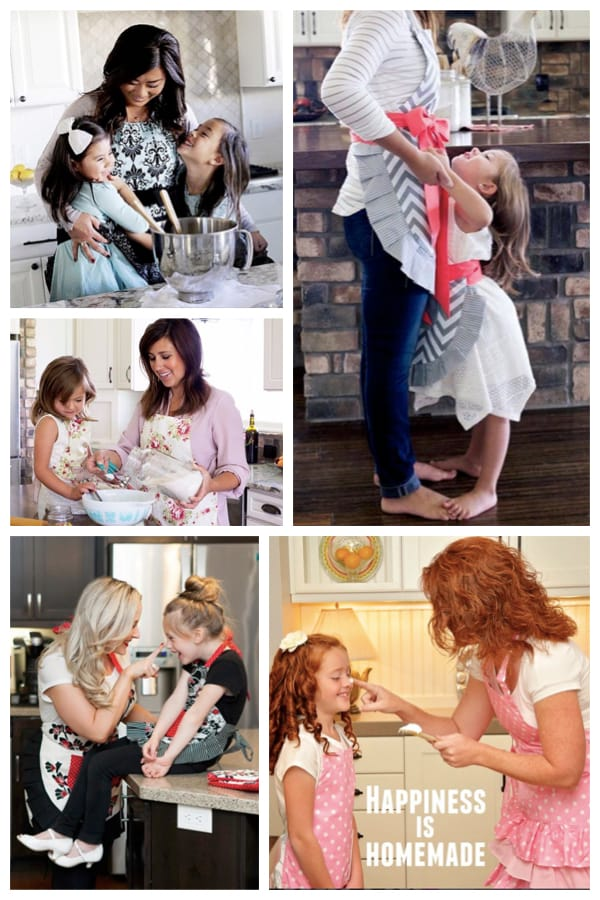 Mother Daughter Matching Flirty Aprons