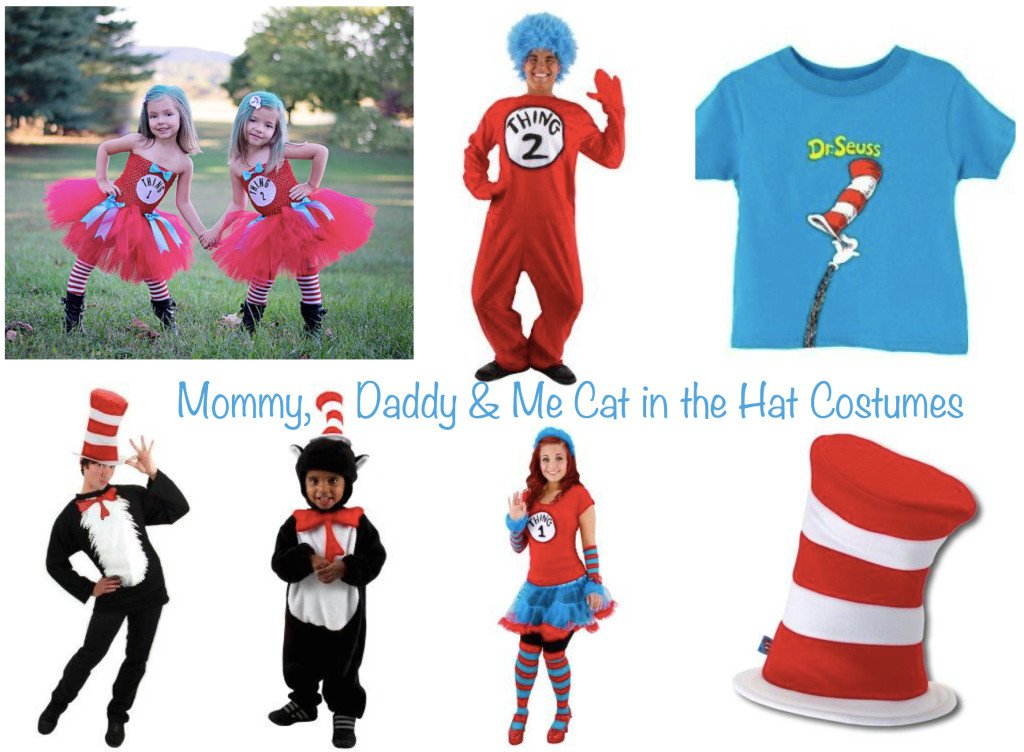 Mommy Daddy & Me Dr Seuss Cat in the Hat Costumes