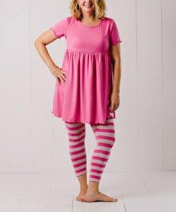 Pink_Empire-Waist_Dress_Leggings_Women