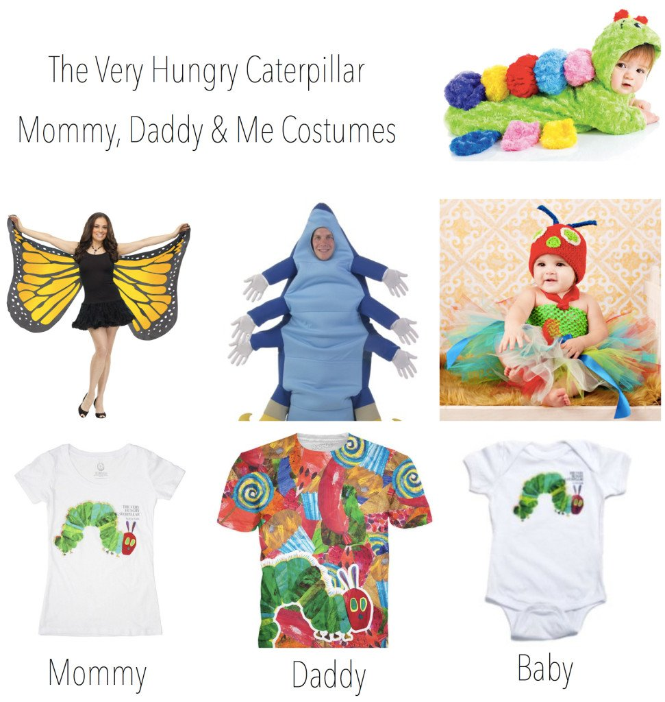 The Very Hungry Caterpillar Mommy Daddy Baby Costumes