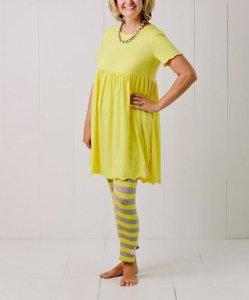 Yellow_Ruffle_Leggings_Set - Women