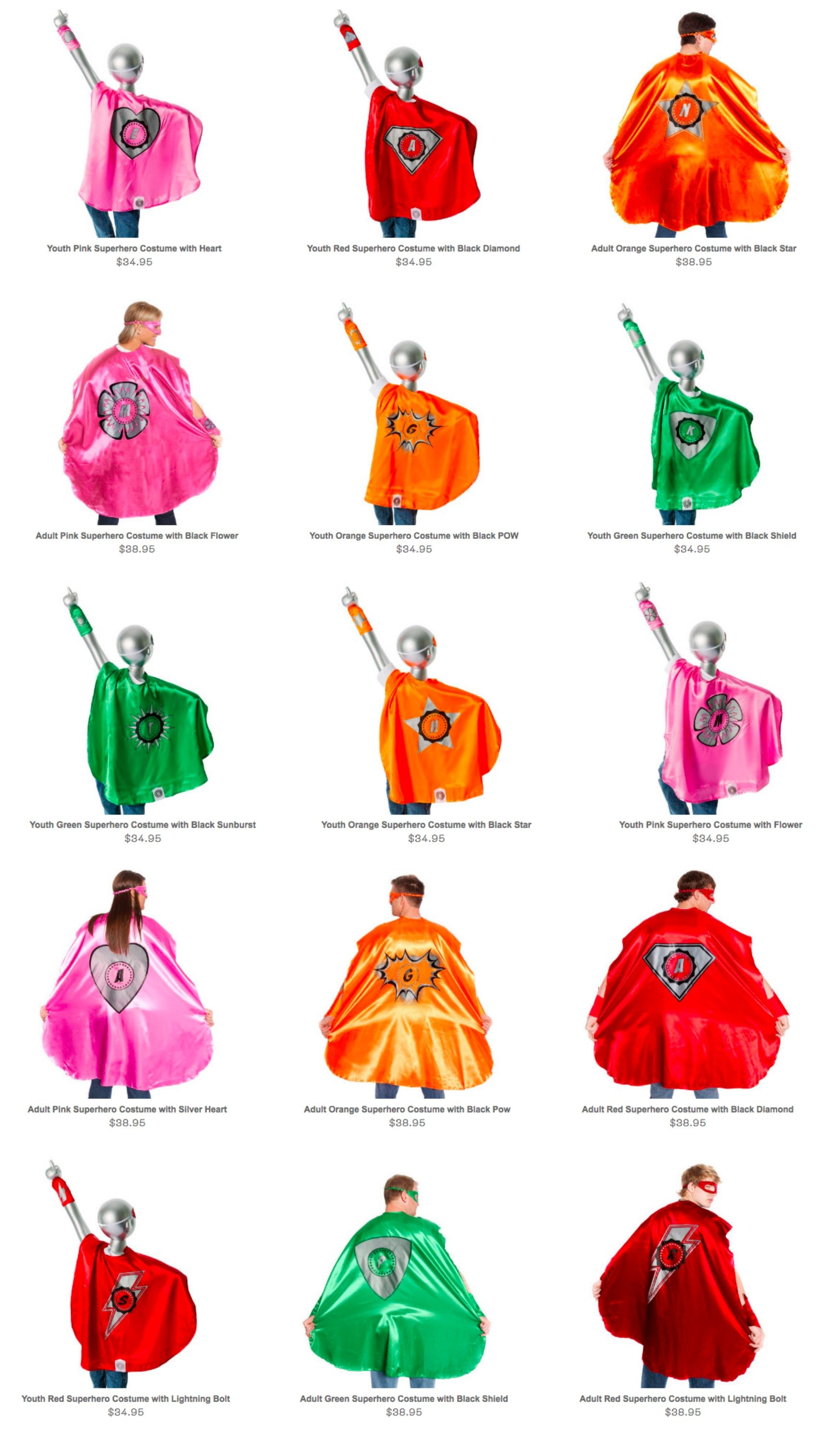 Superhero Capes for the Whole Family