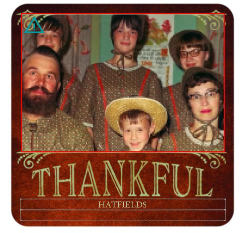 Awkward Family Photo - Matching Family Thanksgiving Photo Card
