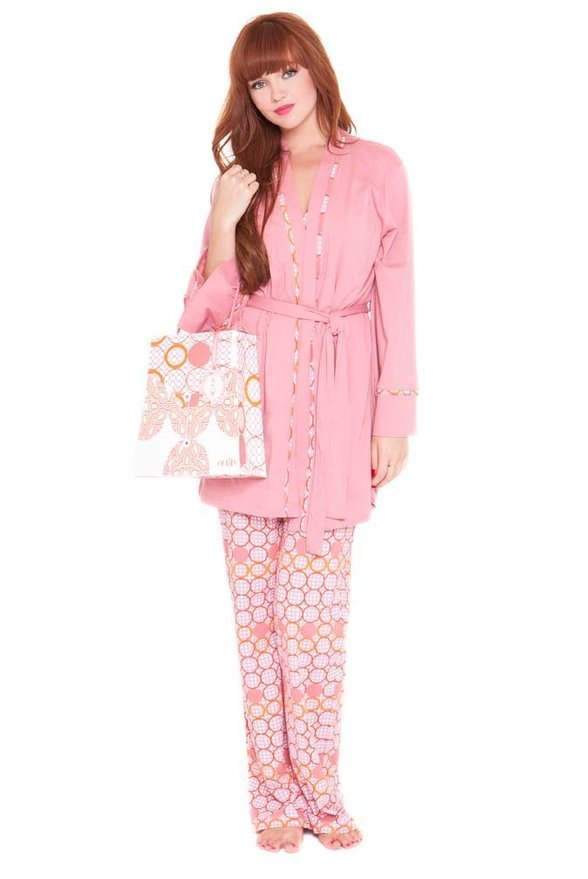Olian Anne 5 Piece Mom And Baby Maternity Nursing Pajama Gift Set